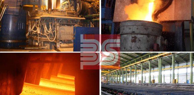 ركورد توليد ماهانه خطوط ذوب و نورد در مجتمع فولاد صنعت بناب شکسته شد