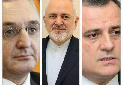 ظریف آذربایجان و ارمنستان را به خویشتنداری دعوت کرد