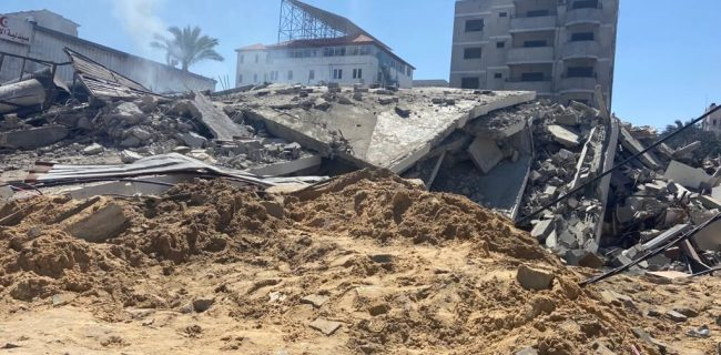 تخریب مساجد و مراکز دولتی و خدماتی در حمله صهیونیستها به غزه